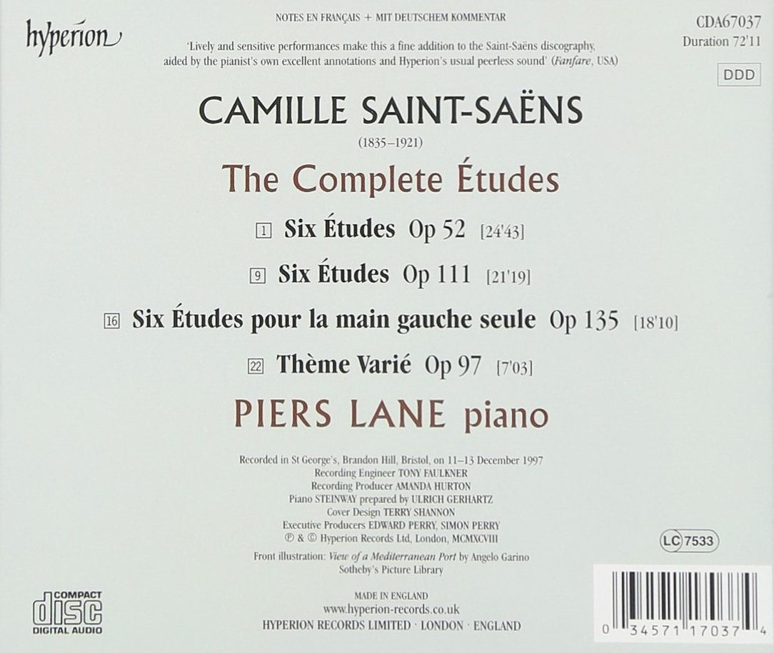Saint-Saëns: The Complete Etudes