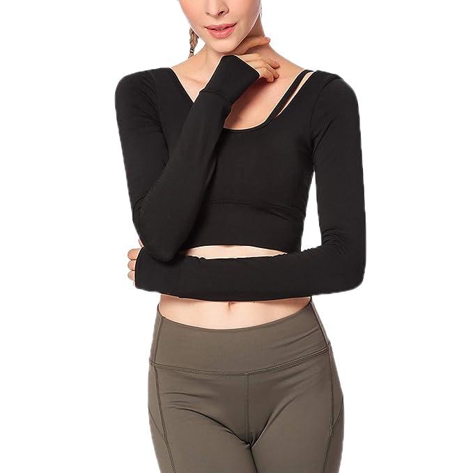 Amazon.com: Elonglin - Camiseta de entrenamiento para mujer ...
