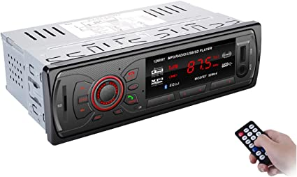 bedee Auto Radio Receptor coche Bluetooth MP3 Player Car Audio con ...