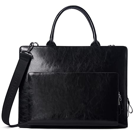 048442215 BOSTANTEN Genuine Leather Briefcase Business Office Crossbody Laptop Bag  Messenger Bags for Men Black: Amazon.co.uk: Luggage