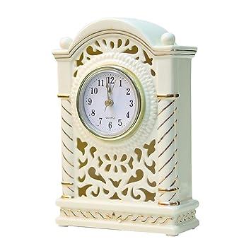 Relojes Salón Dormitorio Decoración Reloj Relojes Decorativos Personalidad Creatividad Relieve Cerámica Relojes: Amazon.es: Hogar