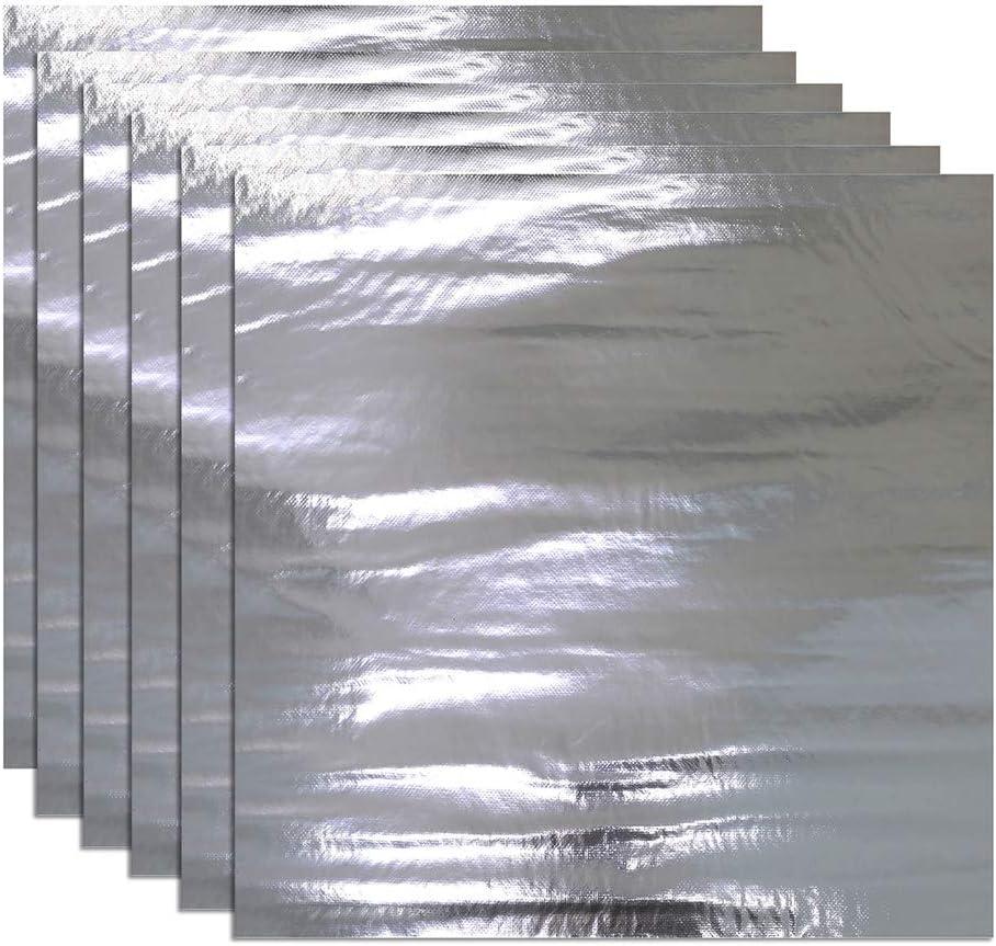 SHINEHOME 236mil 20'' x 20'' Heat Shield Sound Deadener Deadening Heat Insulation Mat Noise Insulation and Dampening Mat Heat Proof Mat 6PCS