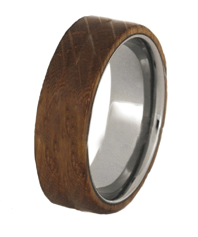 Whiskey Barrel Wood Rings For Him or Her - Unique For Friendship Fun Weddings Etc (10)