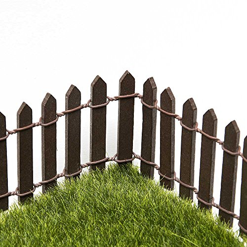 Tonsiki 40 Inch Length Miniature Fairy Garden Ornament Fence