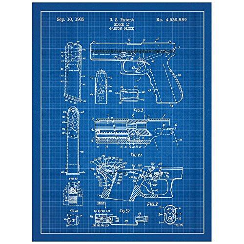 - Inked and Screened Military and Weaponry Glock 17 Handgun - G. Glock - 1985