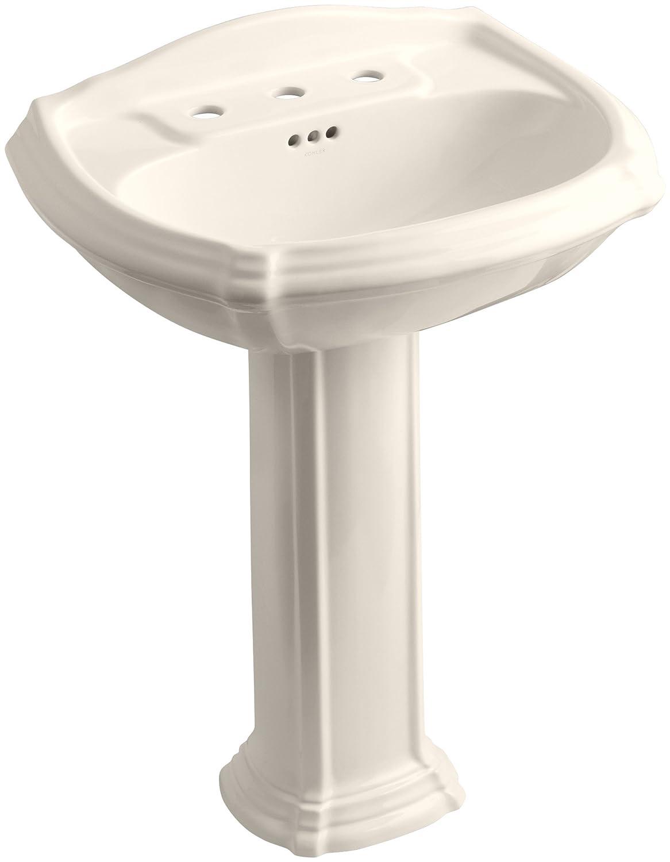 pedestal bathroom sinks. KOHLER K 2221 8 0 Portrait Pedestal Bathroom Sink with  Centers White Sinks Amazon com