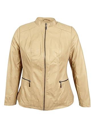 a04c8984df5 Image Unavailable. Image not available for. Color  Alfani Women s Plus Size  Faux-Leather Moto Jacket ...