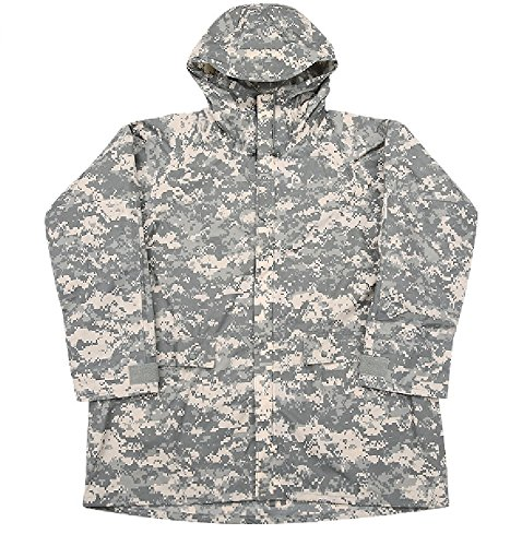 (ARMY ISSUE ACU DIGITAL WET WEATHER RAIN COAT IMPROVED RAINSUIT JACKET MEDIUM NSN 8415-01-527-4614)