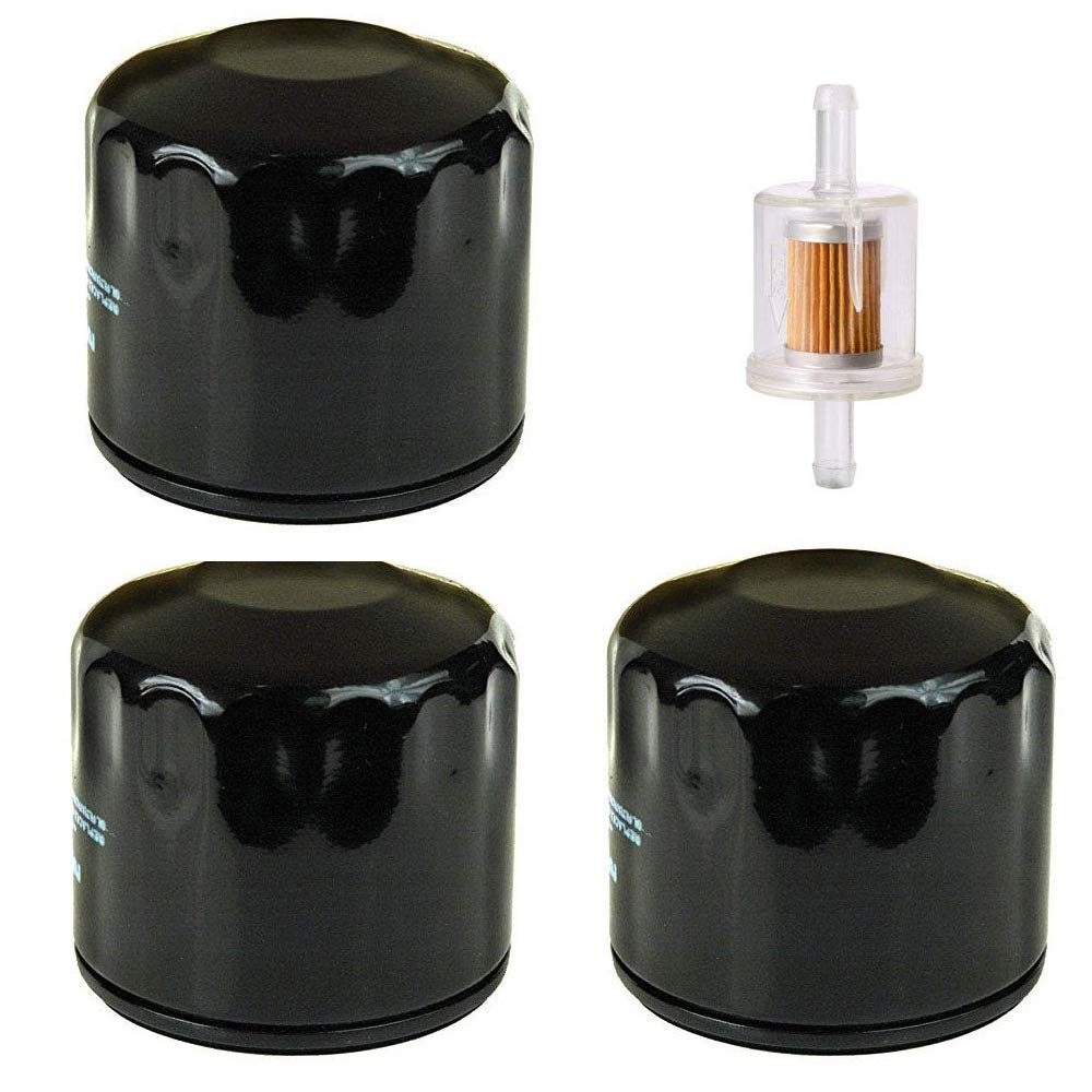 John Deere GY20577 with 691035 Fuel Filter,AM125424 Oil Filter Swess 3 Pack 492932s Oil Filter for Briggs and Stratton Oil Filter 492932 491056Kawasaki 49065-7007
