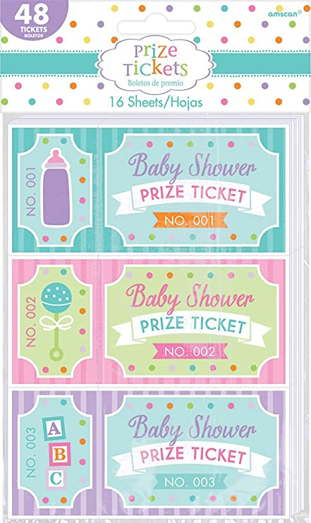 Baby Shower Prize Tickets Kitchen Dining