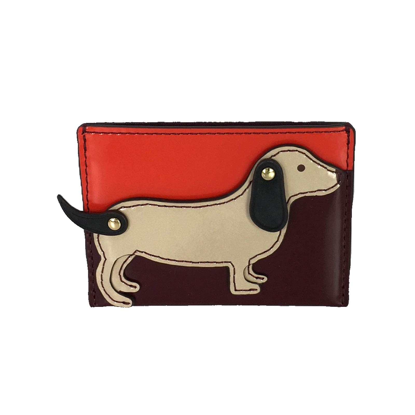 Tory Burch Dachshund Slim Card Case Holder, Liberty Red
