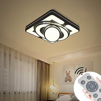 Myhoo 48w Led Modern Deckenleuchte Dimmbar Deckenlampe Flur Wohnzimmer Lampe Schlafzimmer Kuche Energie Sparen Licht Energieklasse A