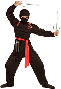 Amakando Pasamontaña para Niños - Negro | Máscara Infantil Ninja ...