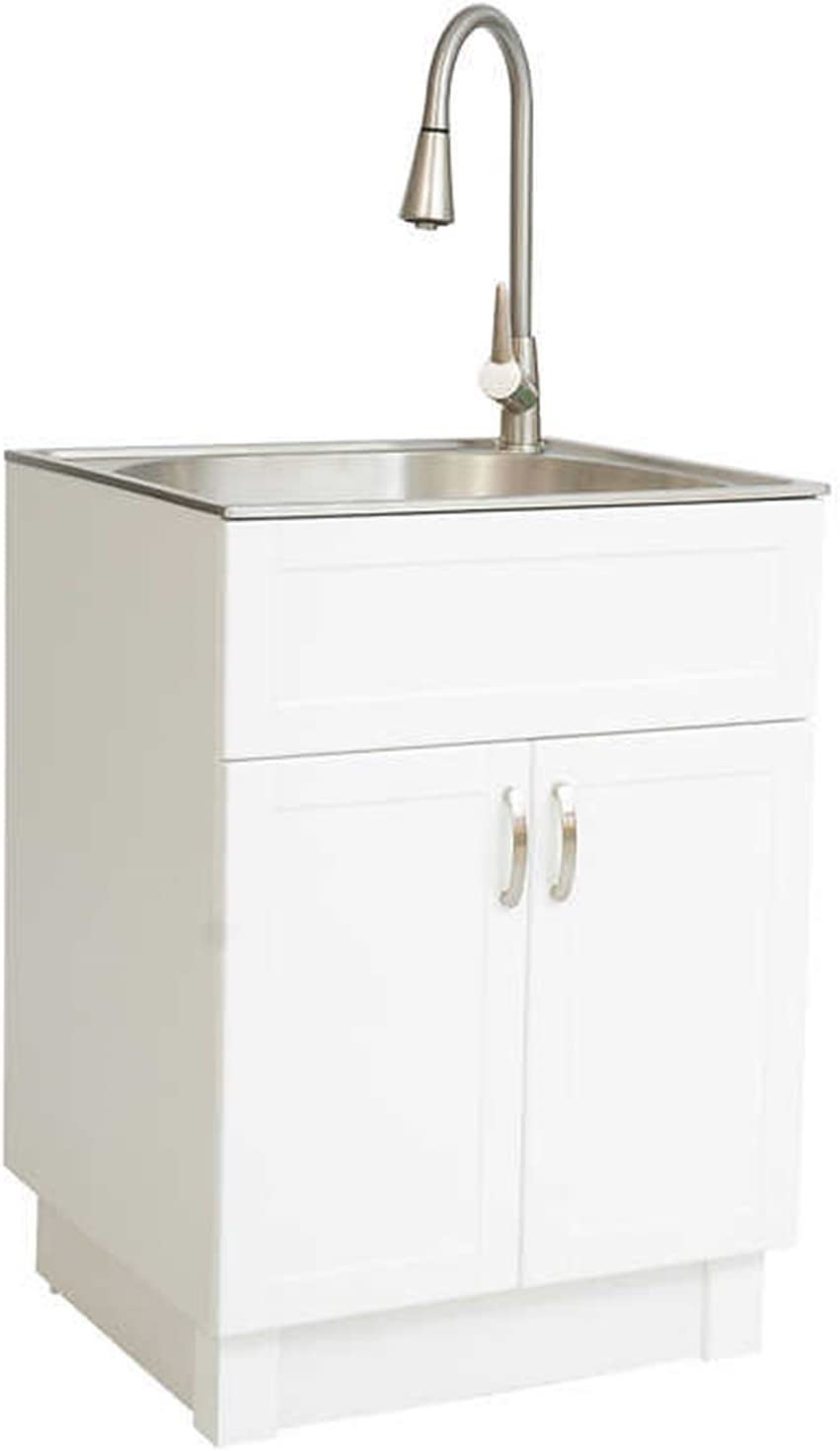 Sink Cabinet. Transform Utility Sink with Flexible Faucet ...