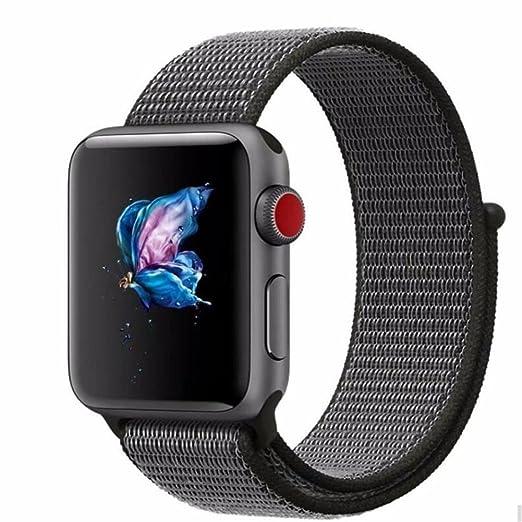 Correa de reloj Gereton 42/38 mm, pulsera de pulsera de repuesto de pulsera tejida de nylon trenzada para reloj Apple Watch 1/2/3: Amazon.es: Relojes