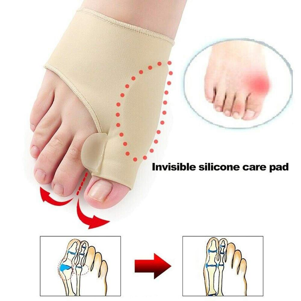 Clothful  2 Pair Healthy Leg Recommended Thumb Valgus Toe Separator Relief Corrector Pad by Clothful (Image #6)