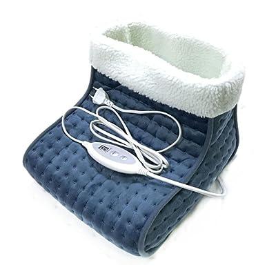 MEYLEE Chauffe-pied chauffant et confortable 100W - Thermostat automatique à 4 dossiers et minuterie automatique de 9 heures - Bleu foncé