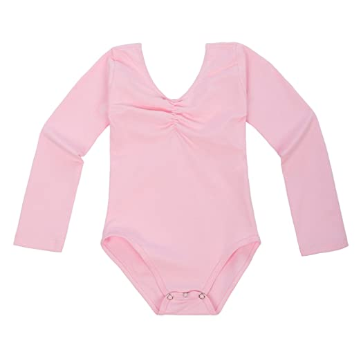 GRACE KARIN Baby Girls Solid Dance Tight V-Neck Dancing Leotard Romper