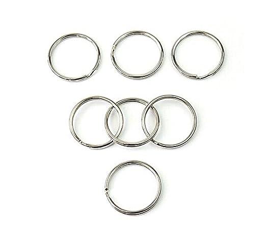 Chytaii Anillo de Llavero Metal 25mm Cierres para Bisutería Anillas Artesanías Acceorio de Bricolaje 50 Unidades