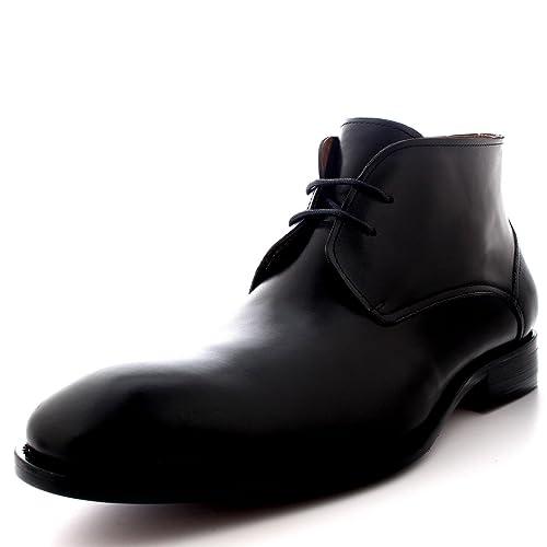 fec6502df1e Queensbury Teddy Hombre El Estilo Británico Desierto Chukker Media Caña  Tobillo Cuero Completo Zapatos Botas -