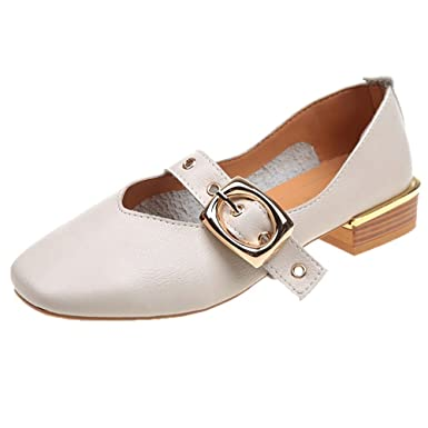 Darringls_Zapatos para Mujer,Botines Moda para Mujer Zapatos Solos británicos Boca Baja Zapatos pequeños Zapatos de tacón Medio: Amazon.es: Ropa y ...