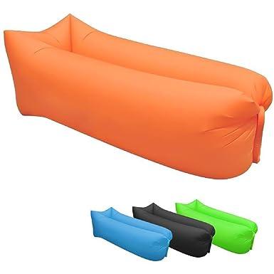 OUMIZHI Sofá inflable de asiento de playa Bolsa de asiento de aire ...