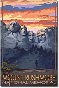 "Mount Rushmore National Memorial Vintage Travel Art Refrigerator Magnet Size 2.5"" x 3.7"""