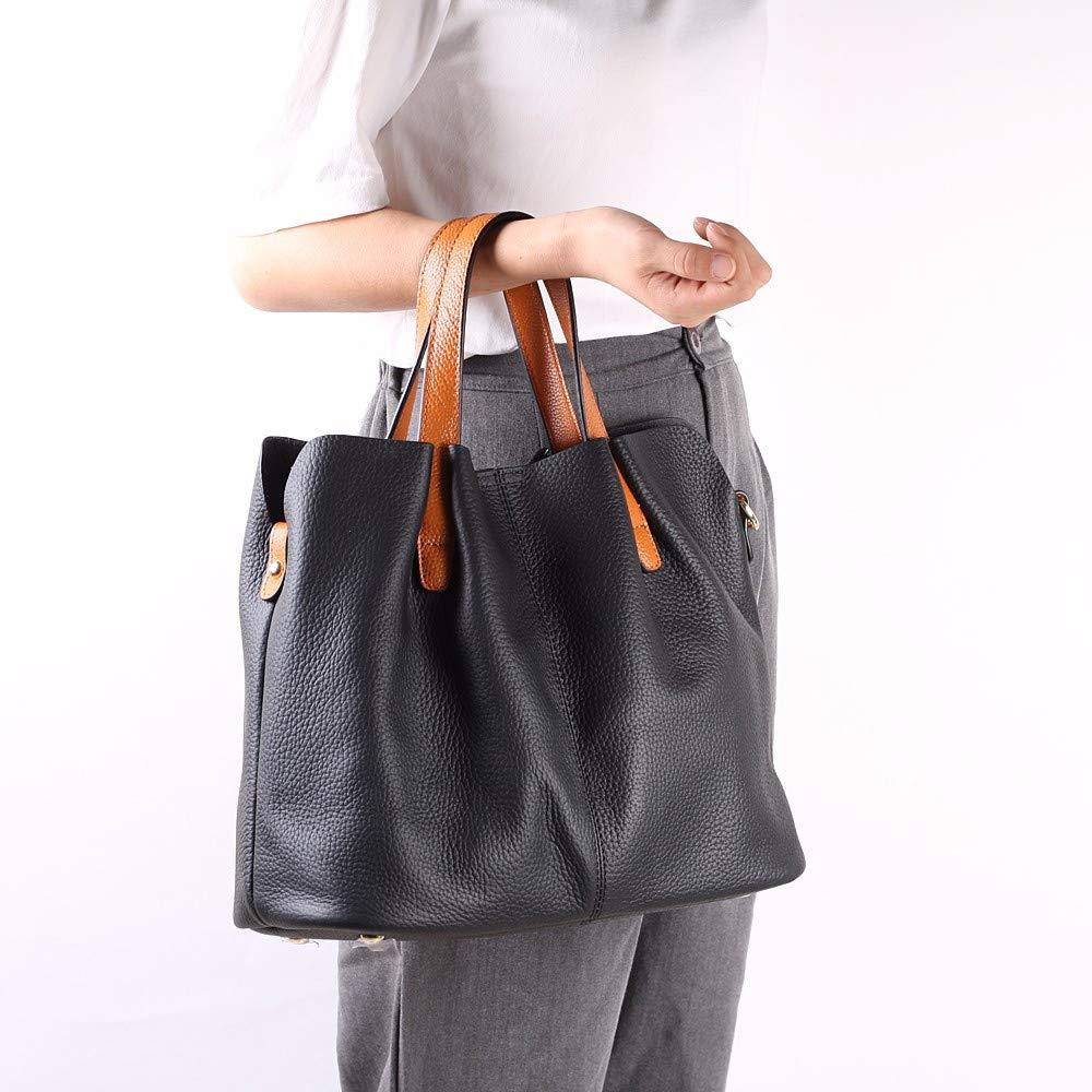 Crossbody bag,HoshellFashion Fold Leather Handbag Shoulder Bag Mobile Messenger Bag We can arrive in 2 to 3 days (Black)