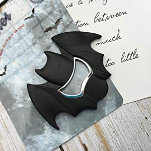 Batman Opener Fridge magnet,Beer Bottle Openers,Rubber Coated, Stainless Steel.