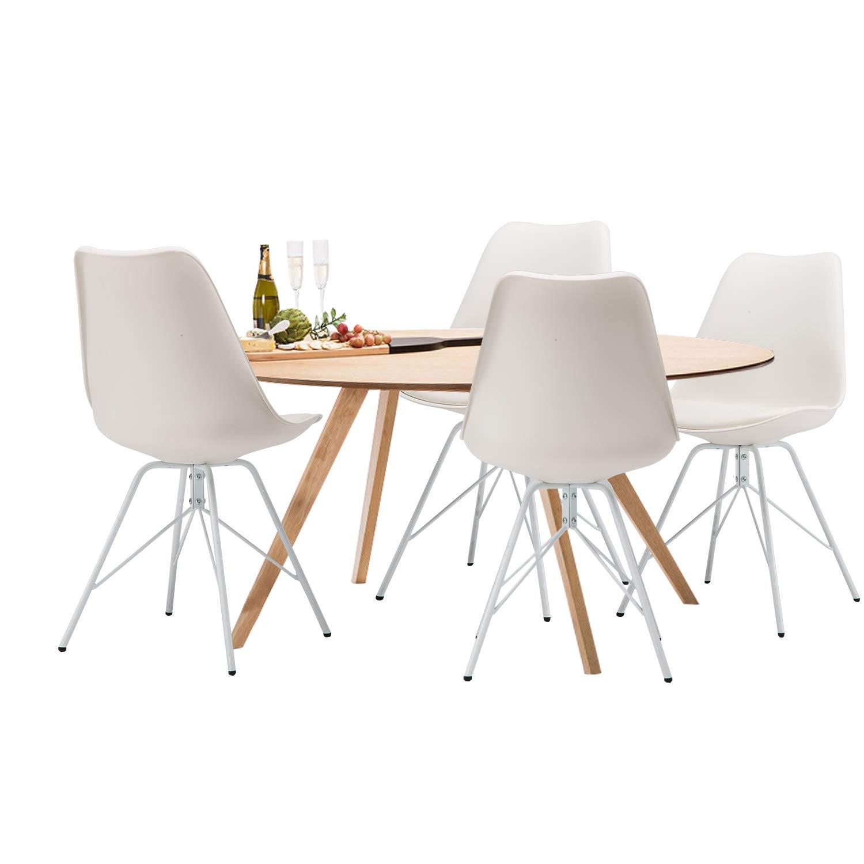 Heyesk Moderne Esszimmerstühle Esszimmerstühle Esszimmerstühle Set von 4 natürlichen Holzbeine gepolsterte Stühle für Das Esszimmer Küche Wohnzimmer Schlafzimmer (Schwarz) b302d1