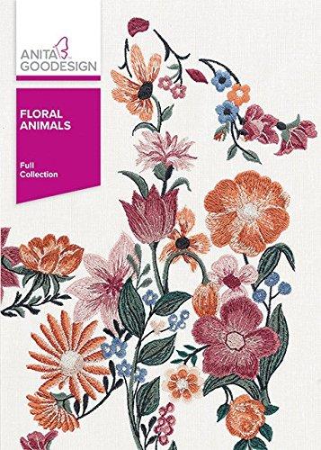 Anita Goodesign Embroidery Machine Designs CD Floral (Animals Machine Embroidery Designs)
