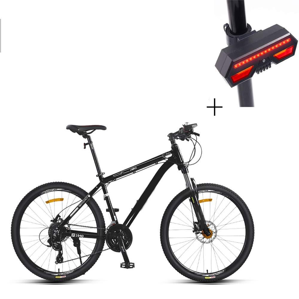 自転車、マウンテンバイク、26インチ21スピードディスクダブルブレーキアルミニウム合金高レンジオフロード車、+自転車ターンシグナル B07GWV7FV5