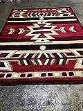 Southwest Native American Area Rug Red & Black