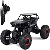 Tuptoel RC Cars Jeep Trucks Off-Road Vehicle Monster Trucks 4WD Drive Car 1/18 Scale 2.4GHz RC Hobby Cars High Speed Racing Cars- Black