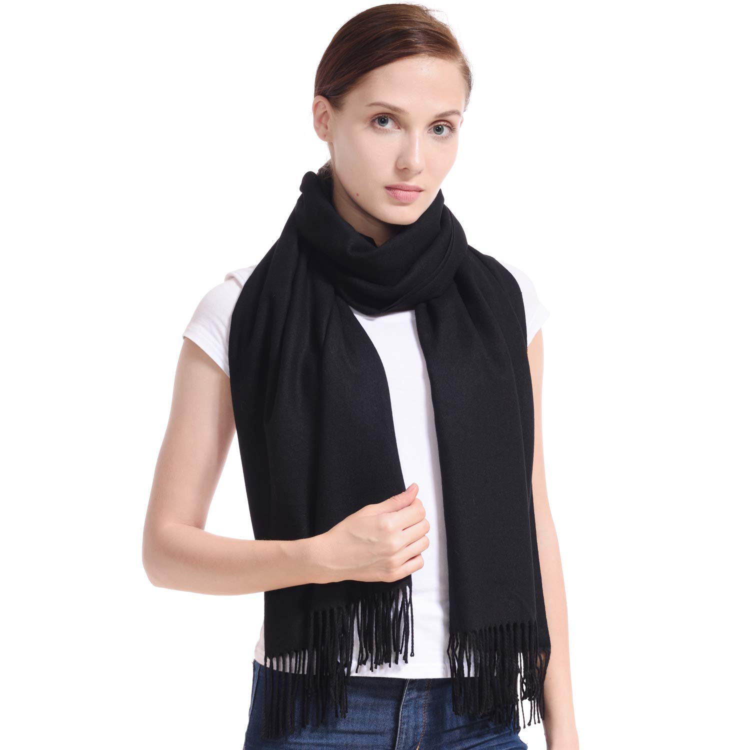 LERDU Womens Cashmere Shawls Wraps Scarves Fashion Large Warm Shawls Xmas Gift Idea Winter Pashmina Shawls for Women