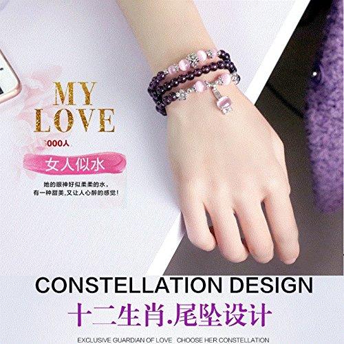 Wild amethyst bracelet bracelet sweet female multi-layer fashion bracelets simple jewelry accessories jewelry gift - Amethyst Layer Dress