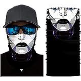 Stoota Joker Print Face Mask, Rave Bandana, Neck Gaiter, Scarf, Summer Balaclava for Dust Wind UV Protection