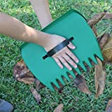 Life987 Large Garden and Yard Leaf Scoops, Leaf Grabbers, Hand Rakes Multiple Use for Leaves, Lawn Debris and Trash Pick Up
