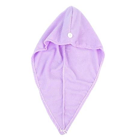 1pc Magia Microfibra Cabello Secado Toalla De Baño De La Tapa Abrigo  Principal (púrpura u 5e544b83779