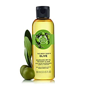 The Body Shop Olive Nourishing Dry Oil For Body and Hair, 3.3 Fl Oz