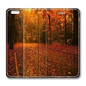 Fairyland Design Leather Case for Iphone 6 Fallen Leaves