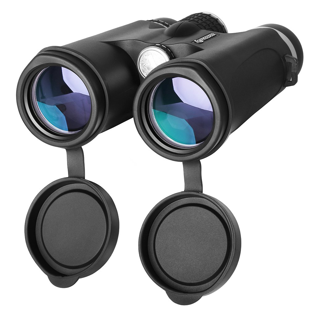 10 x 42 Binocular for Adults,コンパクト軽量プロフェッショナルHD双眼鏡for Bird Watching旅行観光サファリ狩猟Stargazingスポーツイベントコンサート、bak4プリズムFMC Optics B07D81QTDB