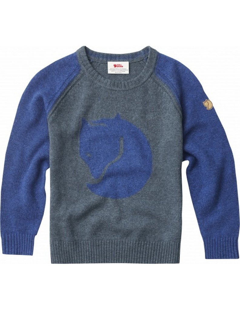 Fjallraven Kid's Fox Sweater, Uncle Blue, 146 by Fjallraven