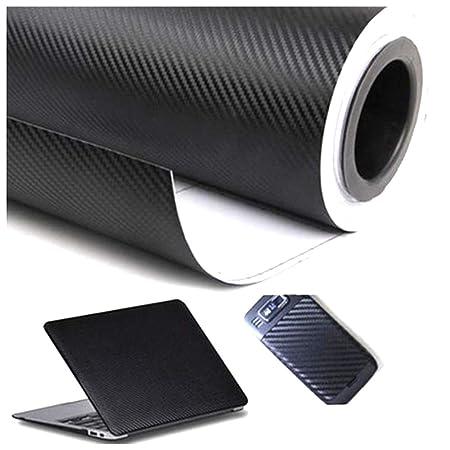 Xinlie Autofolie Carbon Folie Aufkleber Autofolie Aufkleber Vinyl Wrap 3D DIY Auto Folie mit Luftkanäle Verdickt Dekorative S