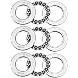 uxcell 51105 Thrust Ball Bearings 25mm x 42mm x 11mm Chrome Steel ABEC3 Single Row Roller 3pcs
