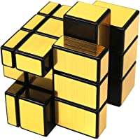 FCBB 3x3x3 Mirror Golden Speed Cube Puzzle Black