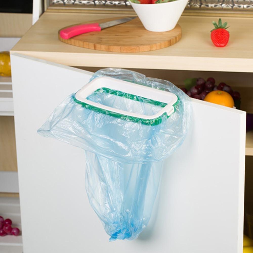 Pushhr Convenient Rubbish Storage Trash Can Rack Kitchen Cabinet Stander Hanging Garbage Bag Holder
