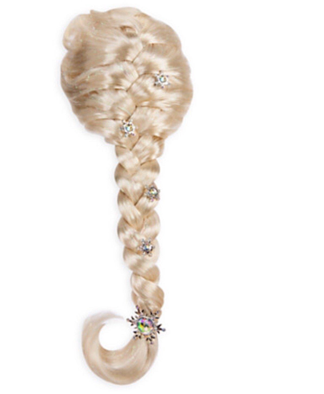Authentic Disney Frozen Princess Elsa Girls Snowflake Costume Dress Up Wig Halloween