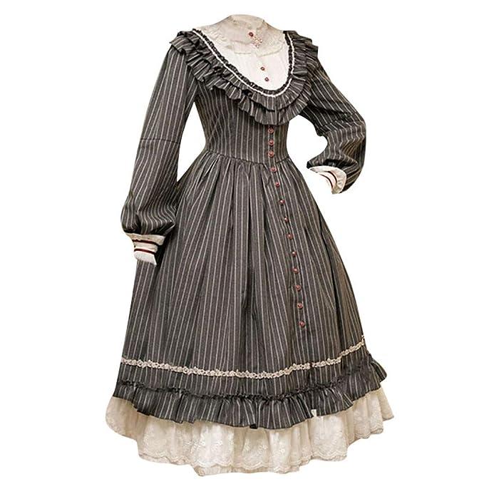 Goosun Disfraz De Medieval para Mujer Vestido Renacentista ...