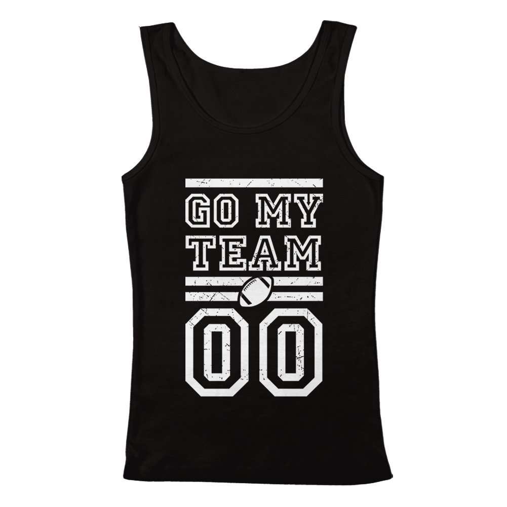 GEEK TEEZ Go My Team Football Mens Tank Top